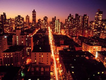 Night view over the Upper East Side