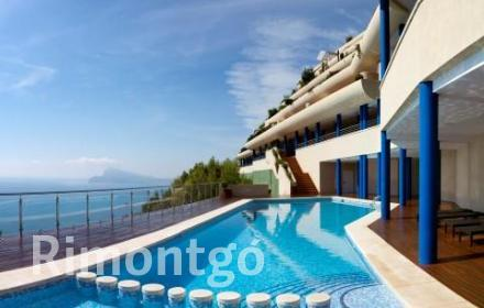 Luxury apartment with views of the Mediterranean in Altea, Alicante.