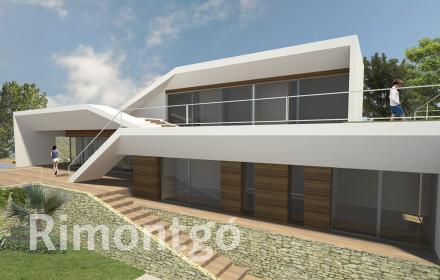 Project of a modern-style property with views over the sea in Jávea, Alicante.