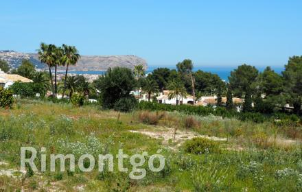 Plot with direct views of the sea in Adsubia, Jávea.