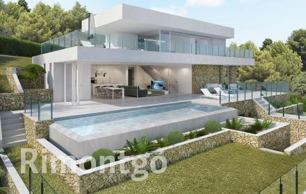 State-of-the-art villa for sale with panoramic views of the sea in Jávea.