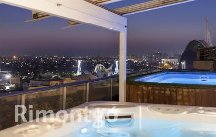 Penthouse for sale facing the City of the Arts and Sciences, Valencia.